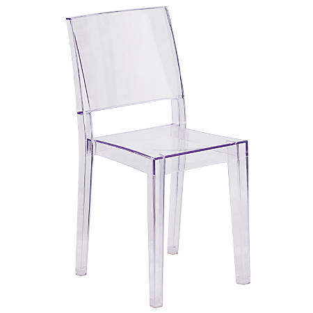 Flash Furniture Phantom Series Polycarbonate Stacking Side Chair, Clear