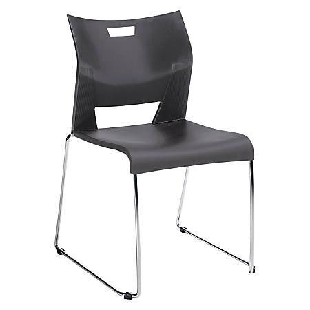 "Global® Duet™ Stacking Chair, 33 1/4""H x 22 3/4""W x 20 3/4""D, Platinum"
