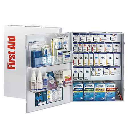 """First Aid Only ANSI 2015 SmartCompliance General Business First Aid Kit, 22-1/2""""H x 17""""W x 5-3/4""""D"""