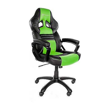 Arozzi Monza Series Gaming Racing-Style Chair, Green/Black