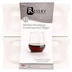 WNA Stemless Plastic Wine Glasses 12