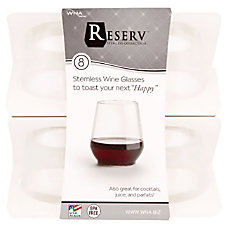 WNA Stemless Plastic Wine Glasses 12