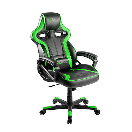 Arozzi Milano Series Enhanced Gaming Racing-Style Chair, Black/Green