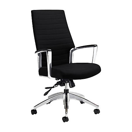 "Global® Accord High-Back Tilter Chair, 44""H x 25""W x 25""D, Ebony"