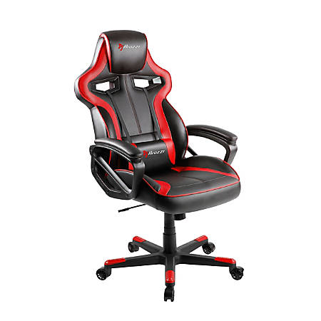 Arozzi Milano Series Enhanced Gaming Racing-Style Chair, Black/Red
