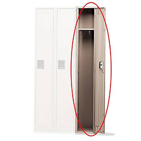 """Tennsco Single-Tier Locker, 1-Wide, 72""""H x 12""""W x 18""""D, Sand"""