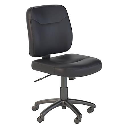 Bush Business Furniture Stanton Leather Task Chair Black Standard Delivery Item 8096576