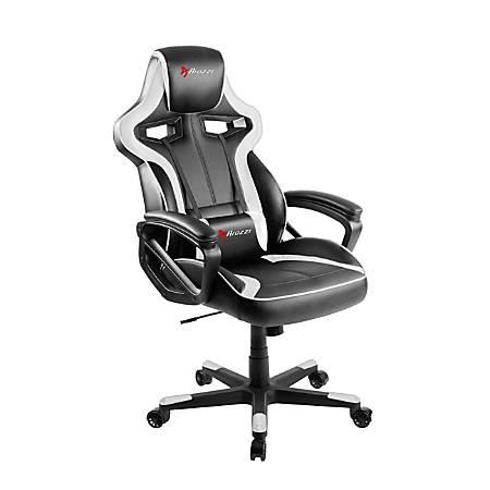 Arozzi Milano Series Enhanced Gaming Racing-Style Chair, Black/White