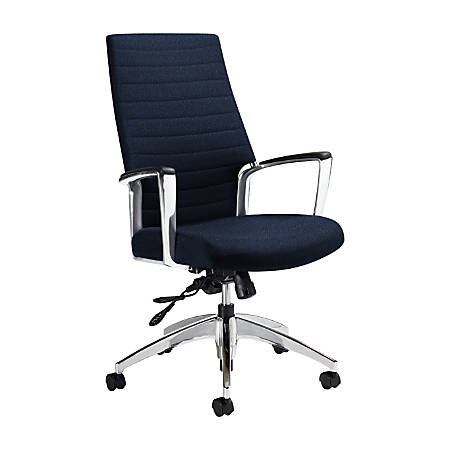 "Global® Accord High-Back Tilter Chair, 44""H x 25""W x 25""D, Admiral"