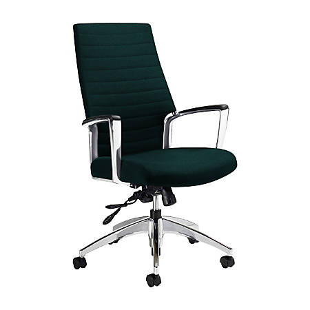 "Global® Accord High-Back Tilter Chair, 44""H x 25""W x 25""D, Spruce"