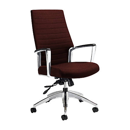 "Global® Accord High-Back Tilter Chair, 44""H x 25""W x 25""D, Russet"