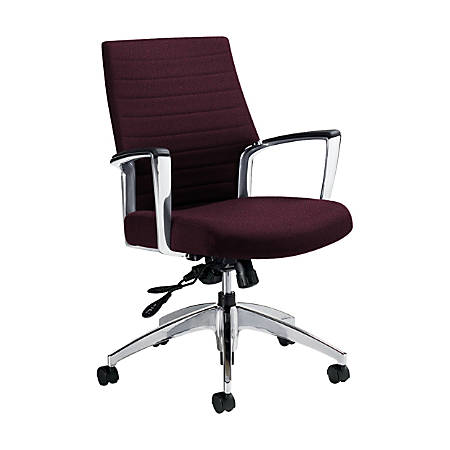 """Global® Accord Mid-Back Tilter Chair, 37""""H x 25""""W x 25""""D, Vermilion"""