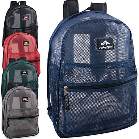 Trailmaker Mesh Backpacks, Assorted Colors, Case Of 24 Backpacks