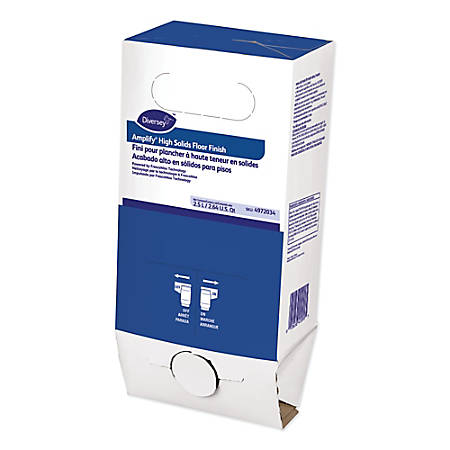 Diversey Amplify High Solids Floor Finishes, Light Scent, 5 Gallon Bag-In-Box, Carton Of 6 Bags
