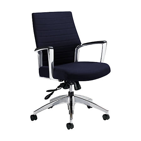 """Global® Accord Mid-Back Tilter Chair, 37""""H x 25""""W x 25""""D, Midnight"""