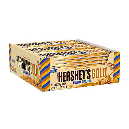 Hershey's® GOLD Bars, 1.4 Oz, Pack Of 24 Bars