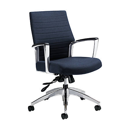 """Global® Accord Mid-Back Tilter Chair, 37""""H x 25""""W x 25""""D, Admiral"""