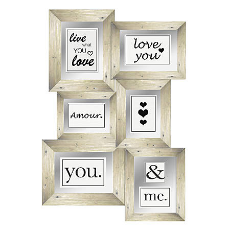 "PTM Images Photo Frame, Love II, 19 3/4""H x 3/4""W x 28""D, White"