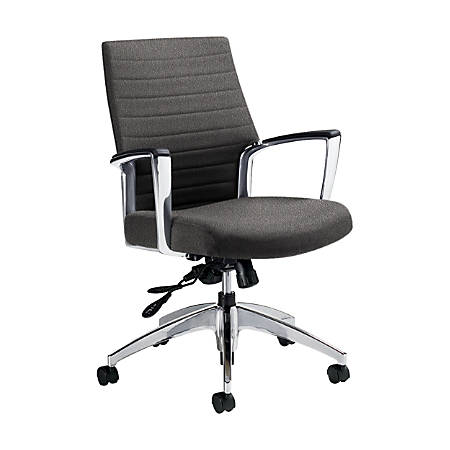 "Global® Accord Mid-Back Tilter Chair, 37""H x 25""W x 25""D, Slate"