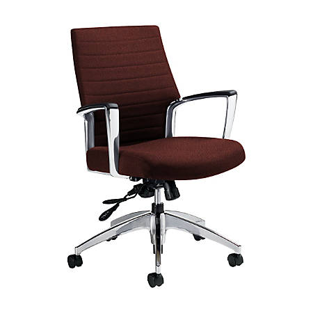 "Global® Accord Mid-Back Tilter Chair, 37""H x 25""W x 25""D, Russet"