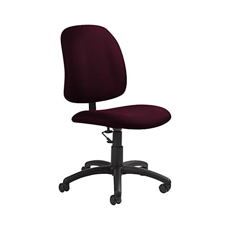 "Global® Goal Low-Back Task Chair, 39""H x 20 1/2""W x 24 1/2""D, Vermilion/Black"