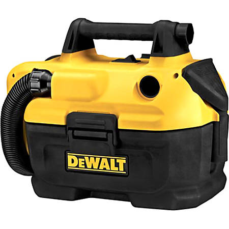 "Dewalt DCV580 18/20V MAX Cordless Wet/Dry Vacuum Cleaner - 2 gal - Bagless - Dry Surface, Wet Surface - 60"" Hose Length"