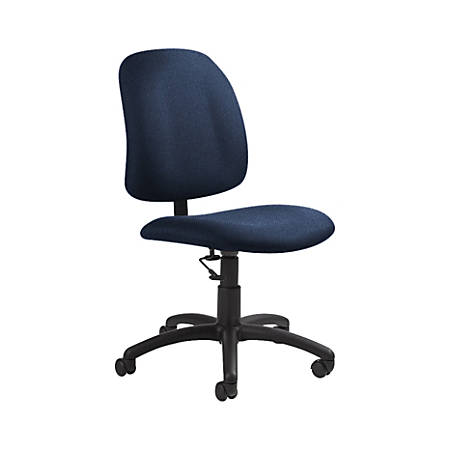 "Global® Goal Low-Back Task Chair, 39""H x 20 1/2""W x 24 1/2""D, Admiral/Black"
