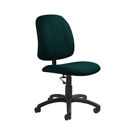 "Global® Goal Low-Back Task Chair, 39""H x 20 1/2""W x 24 1/2""D, Spruce/Black"