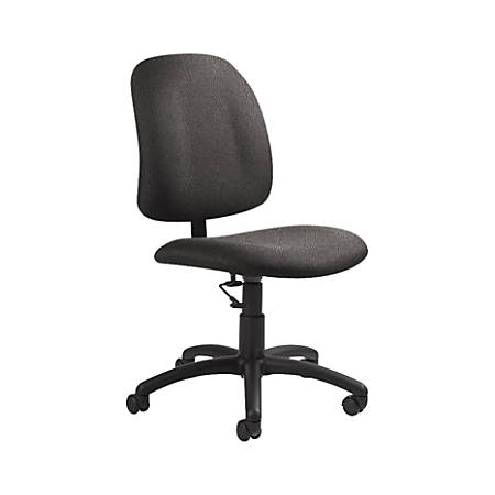 "Global® Goal Low-Back Task Chair, 39""H x 20 1/2""W x 24 1/2""D, Slate/Black"