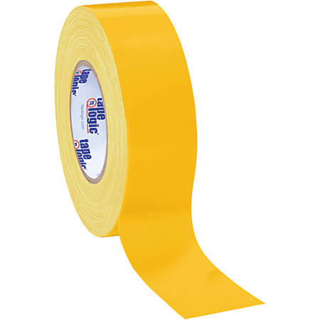 "Tape Logic® Color Duct Tape, 3"" Core, 2"" x 180', Yellow, Case Of 24"