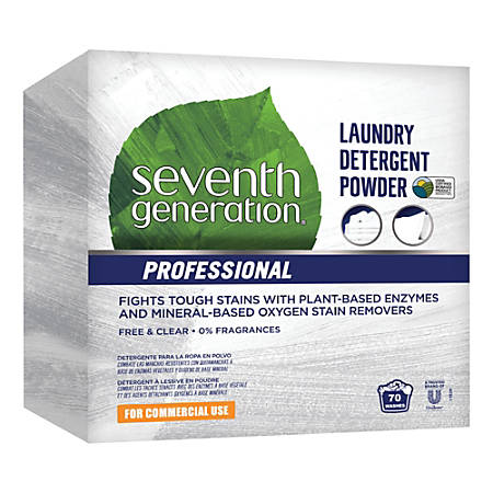Seventh Generation™ Professional Free And Clear Powder Laundry Detergent, 112-Oz Box