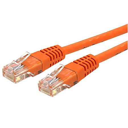 StarTech.com 35 ft Cat 6 Orange Molded RJ45 UTP Gigabit Cat6 Patch Cable - 35ft Patch Cord