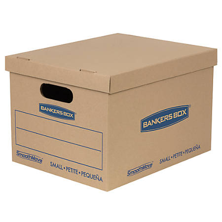 """Bankers Box® SmoothMove™ Classic Moving Boxes, Small, 10"""" x 12"""" x 15"""", 85% Recycled, Kraft, Pack Of 20"""
