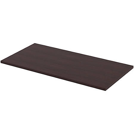 "Lorell® Quadro Sit-To-Stand Laminate Table Top, 48""W x 24""D, Espresso"