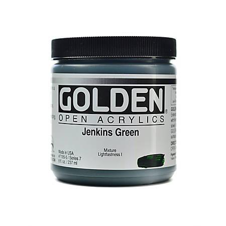 Golden OPEN Acrylic Paint, 8 Oz Jar, Jenkins Green