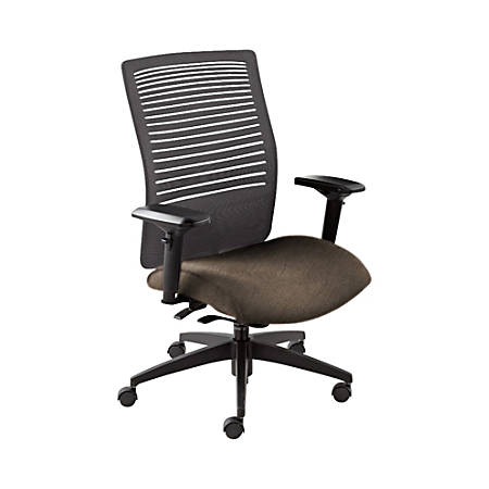 """Global® Loover Weight-Sensing Synchro Chair, Mid-Back, 39""""H x 25 1/2""""W x 24""""D, Earth/Black"""