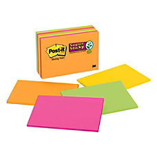 Post it Super Sticky Notes 6