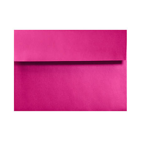 """LUX Invitation Envelopes With Moisture Closure, A2, 4 3/8"""" x 5 3/4"""", Hottie Pink, Pack Of 500"""