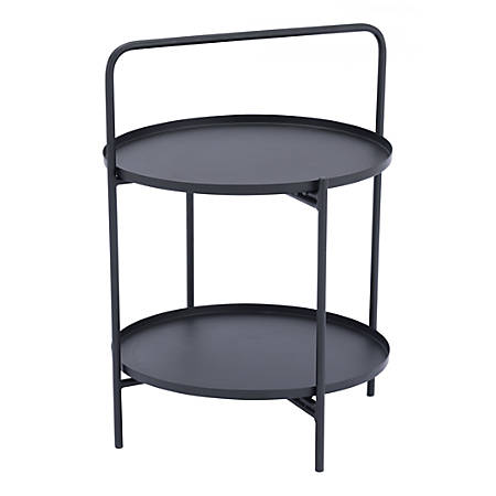Zuo Modern Leve End Table, Round, Black