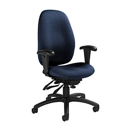 "Global® Malaga Multi-Tilter Chair, High-Back, 41""H x 26""W x 25""D, Admiral/Black"