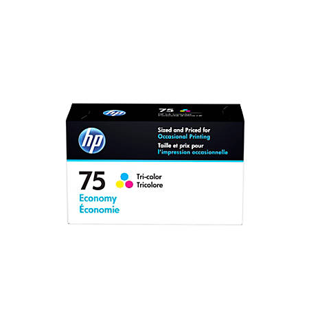 HP 75 Economy-Yield Tri-Color Ink Cartridge (B3B21AN)