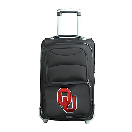 "Denco Sports Luggage NCAA Expandable Rolling Carry-On, 20 1/2"" x 12 1/2"" x 8"", Oklahoma Sooners, Black"