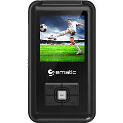 Ematic EM208VID 8 GB Black Flash