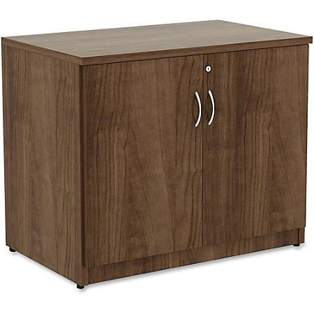 """Lorell® Essentials Series Storage Cabinet, 36""""W, Walnut"""
