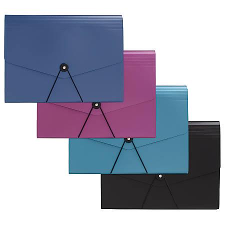 "Office Depot® Brand 7-Pocket Expanding File, Letter Size, 7"" Expansion, Assorted Colors"