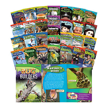 Teacher Created Materials TIME FOR KIDS® Nonfiction Book Set, Set Of 30 Books, Grade 4