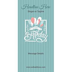 Custom Vertical Display Banner Birthday Balloons