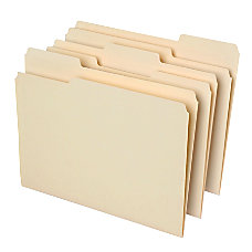 Office Depot File Folders 13 Cut