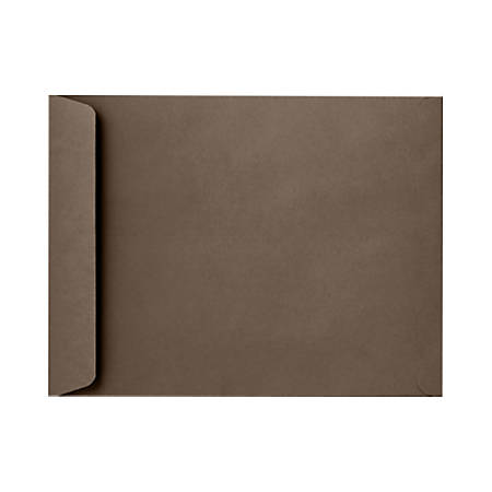 """LUX Open-End Envelopes With Peel & Press Closure, 9"""" x 12"""", Chocolate Brown, Pack Of 1,000"""