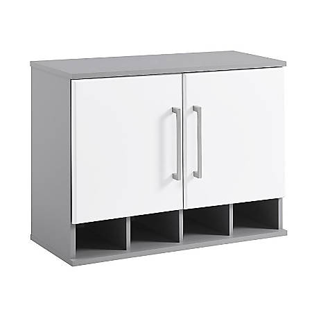 Ameriwood™ Home Latitude Wall Cabinet, 2 Shelves, White/Gray